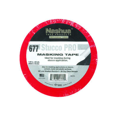 Nashua  1.89 in. W x 60 yd. L Red  Regular Strength  Masking Tape  1 pk