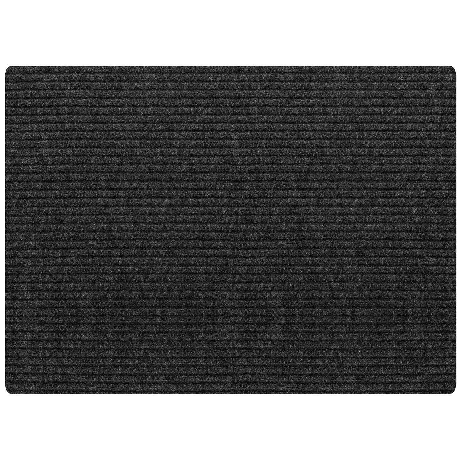 Multy Home  6 ft. L x 4 ft. W Charcoal  Cocord  Polyester  Nonslip Runner Mat