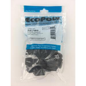 Flair-It  Ecopoly  1/2 in. MPT   x 1/2 in. Dia. FPT  Swivel Elbow