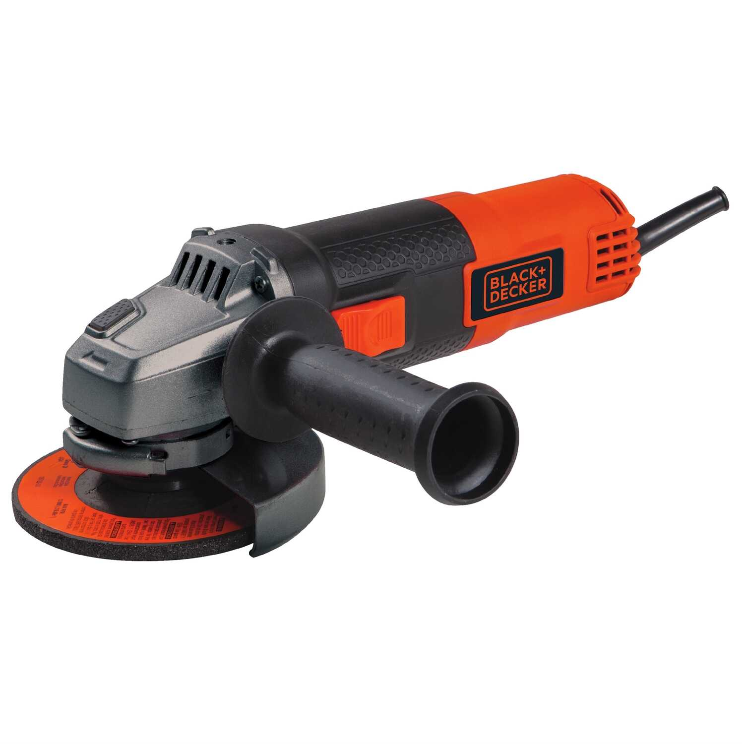 Black and Decker  Corded  6 amps 4-1/2 in. Small Angle Grinder  Bare Tool  Slide  10000 rpm
