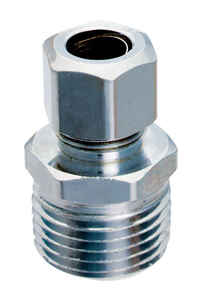 Ace  1/2 in. MPT   x 3/8 in. Dia. Compression  Brass  Straight Connector
