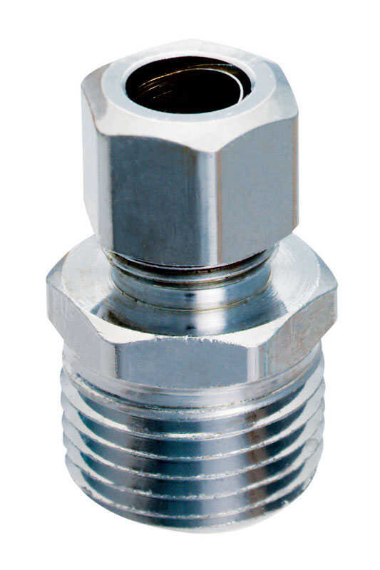 Ace  MPT   x 3/8 in. Dia. Compression  Brass  Straight Connector