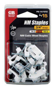 Gardner Bender  3/4 in. W Plastic  Insulated Cable Staple  15 pk