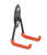 Racor  6-1/2 in. L Rubber Coating  Black/Orange  Steel  U  Hook  40 lb. 1 pk