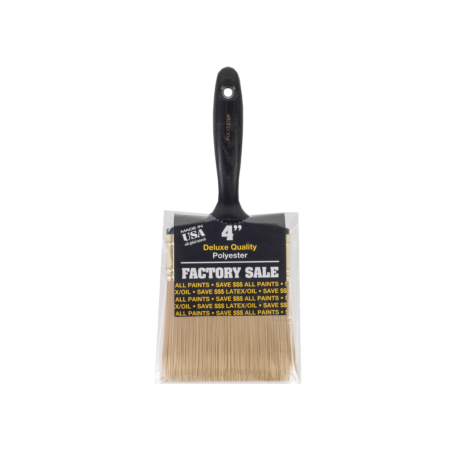 Wooster  4 in. W Polyester  Flat  Paint Brush