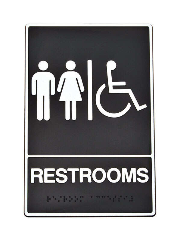 Hy-Ko  Braille/Tactile  English  Black  Informational  Sign  9 in. H x 6 in. W