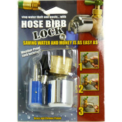 Conservco  Brass  Hose Bibb Lock with Padlock