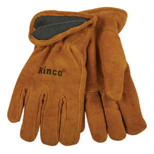 Kinco  Men's  Outdoor  Cowhide Leather  Driver  Work Gloves  Gold  XL  1 pair