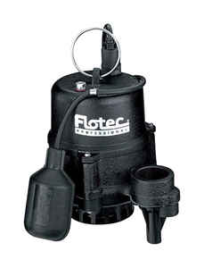 Flotec  Professional Series  Cast Iron  Sewage Pump  1/2 hp 4020  115 volts