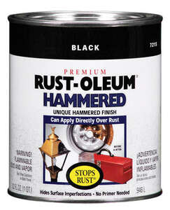 Rust-Oleum  Hammered  Black  Protective Enamel  1 qt. Indoor and Outdoor