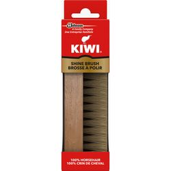 Kiwi  Leather  Brown  Shoe Shine Brush