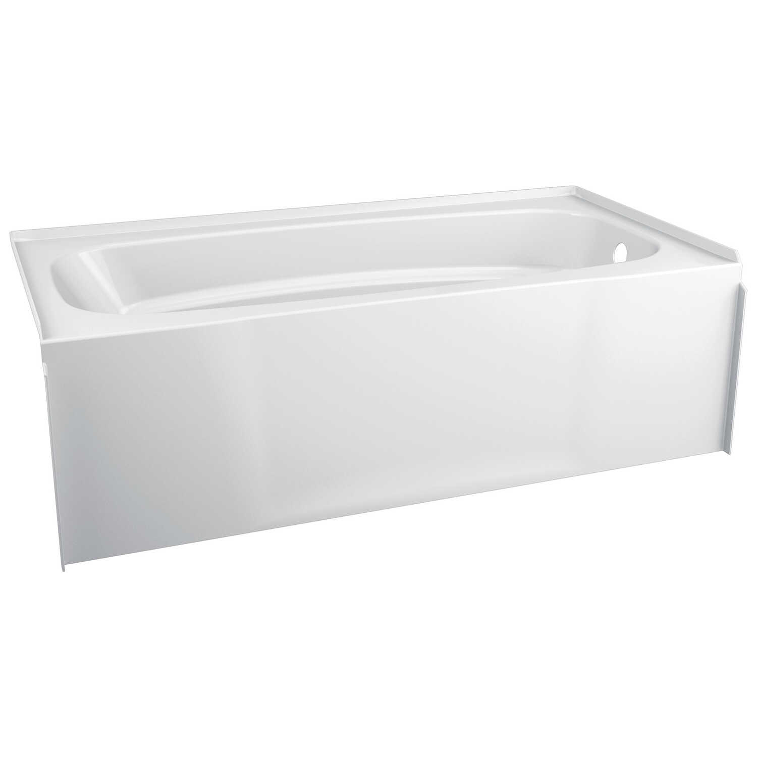 Delta  Hycroft  White  Bathtub  One Piece  Right  Rectangle