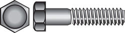 Hillman  5/8 in. Dia. x 7 in. L Zinc Plated  Steel  Hex Bolt  25 pk