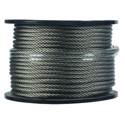 Campbell Chain  Electro-Polish  Stainless Steel  1/4 in. Dia. x 250 ft. L Cable