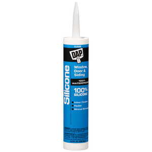 DAP  Silicone  Clear  9.8 oz. Sealant