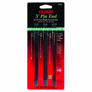 Olson  5 in. Carbon Steel  Scroll Saw Blade Set  18.5 TPI 18 pk