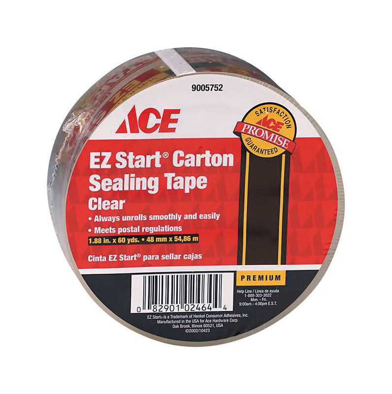 Ace  60 yd. L x 1.88 in. W Packaging Tape  Clear