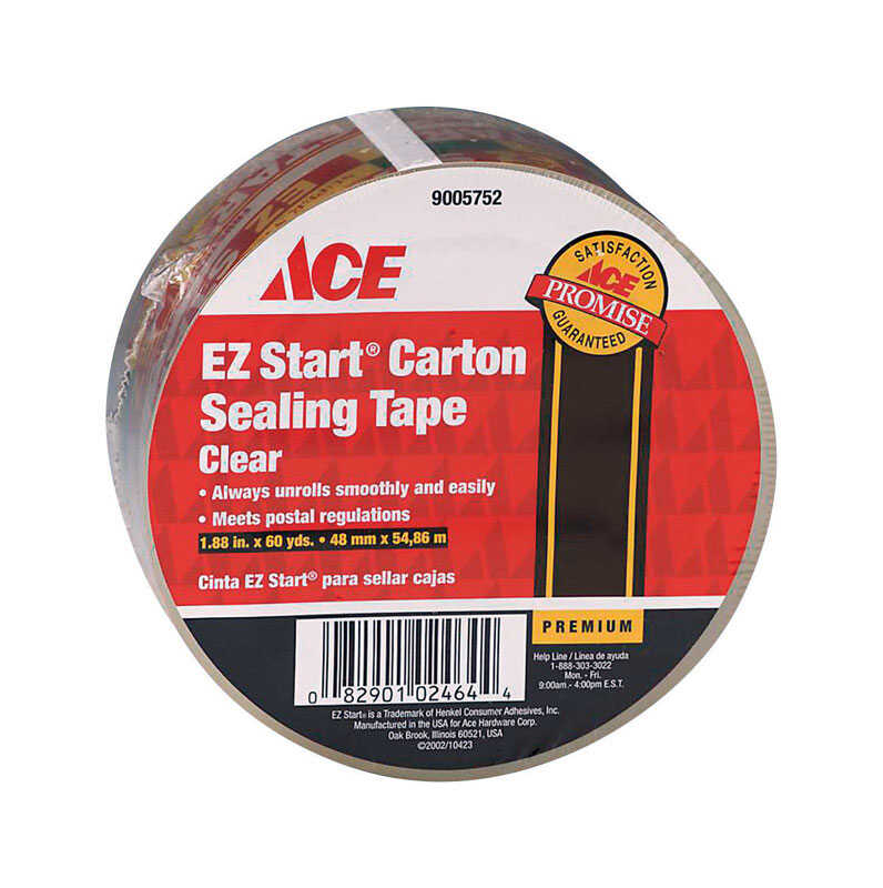Ace  1.88 in. W x 60 yd. L Packaging Tape  Clear