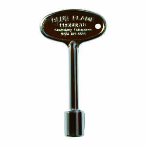 Blue Flame  Silver  Polished  Zinc  Gas Valve Key
