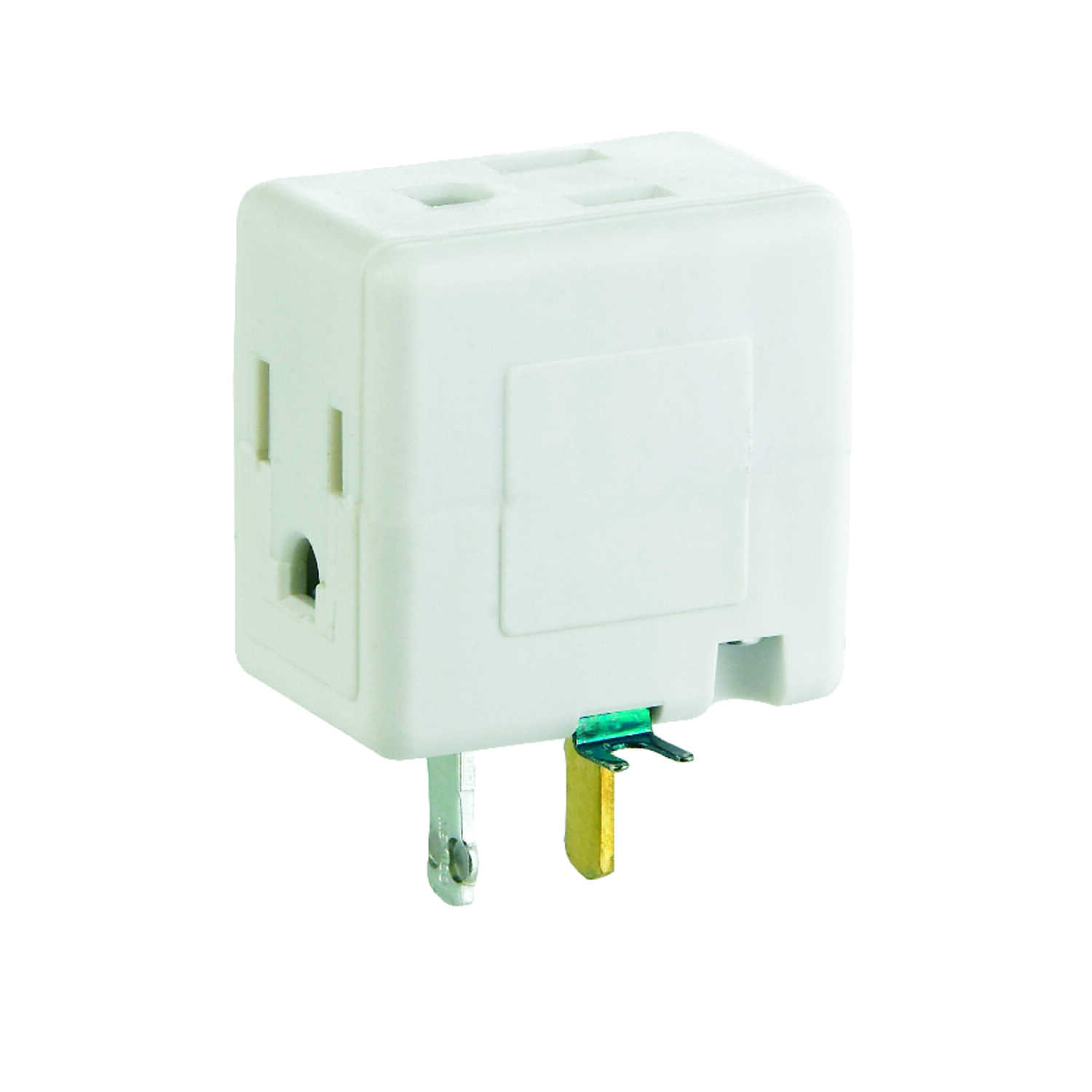 Ace  Grounded  3 outlets Cube Adapter  1 pk