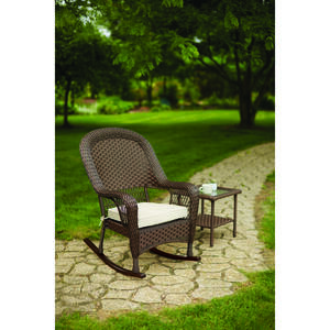 Living Accents  1  Brown  Steel  Prescott  Rocker Chair