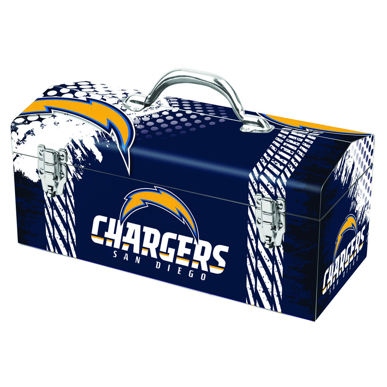 Windco  Steel  San Diego Chargers  Art Deco Tool Box  7.1 in. W x 7.75 in. H 16.25 in.