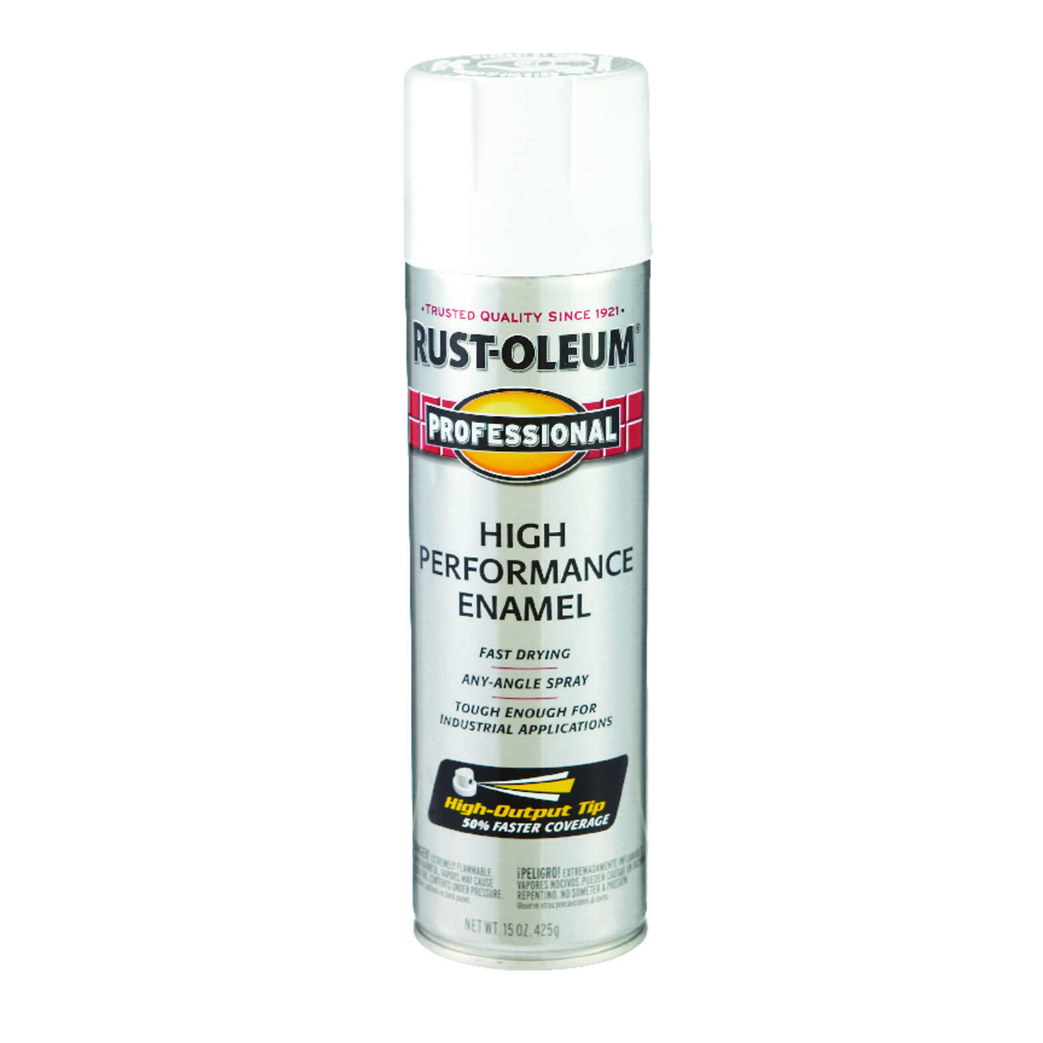 Rust-Oleum  Professional  White  Spray Paint  15 oz.