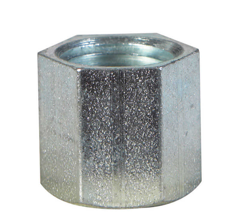 Billco  1/2 in. FPT  0.87 in. L Galvanized Steel  Cap