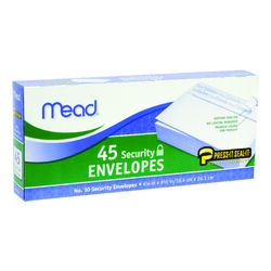 Mead  9.5 in. W x 4.12 in. L No. 10  White  Envelopes  45 pk
