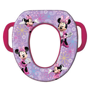 Ginsey  Disney Minnie Mouse  Round  Soft  Child's Toilet Seat