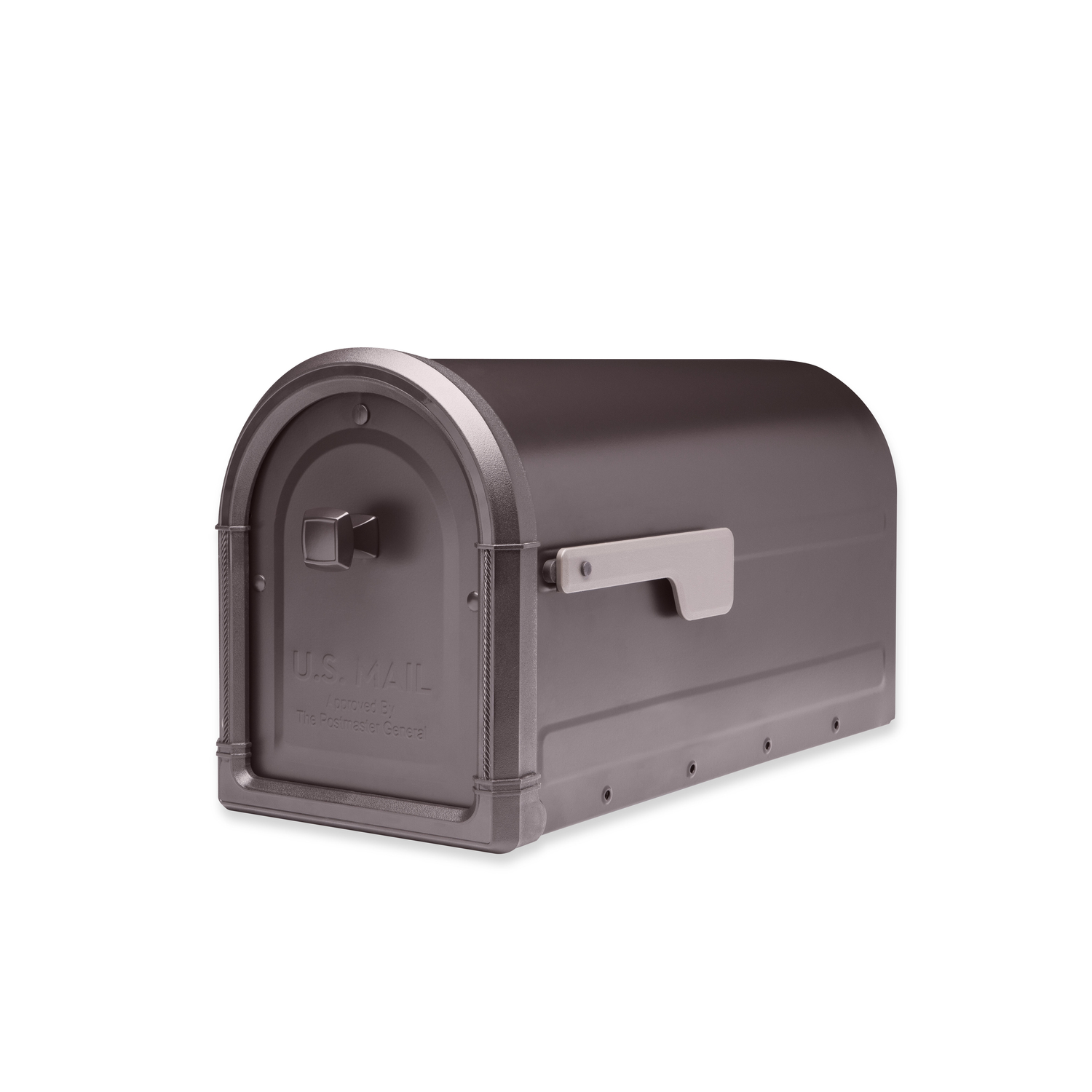 Picture of: Architectural Mailboxes Roxbury Galvanized Steel Post Mounted Rubbed Bronze Mailbox 10 89 In Ace Hardware