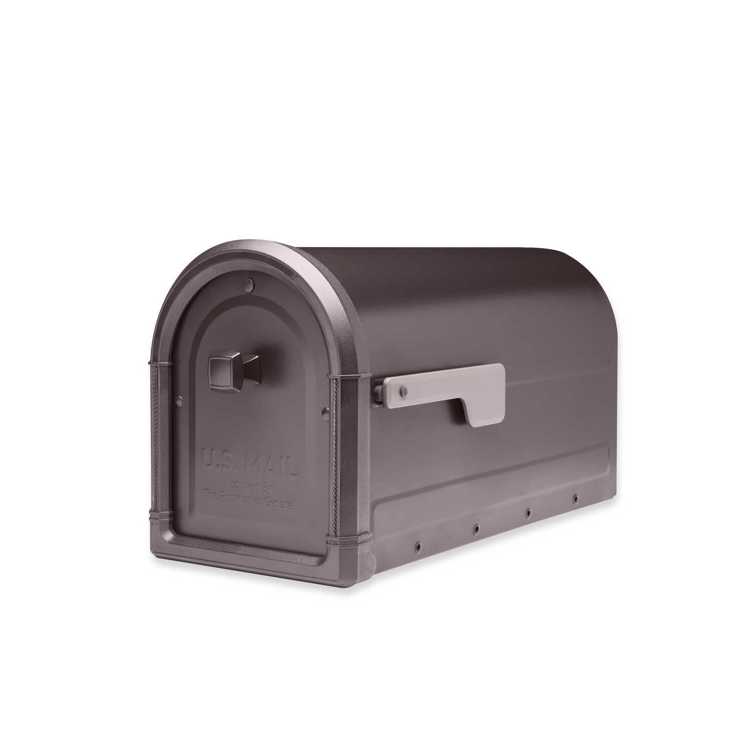 Architectural Mailboxes  Roxbury  Galvanized Steel  Post Mounted  Rubbed Bronze  Mailbox  10.89 in.