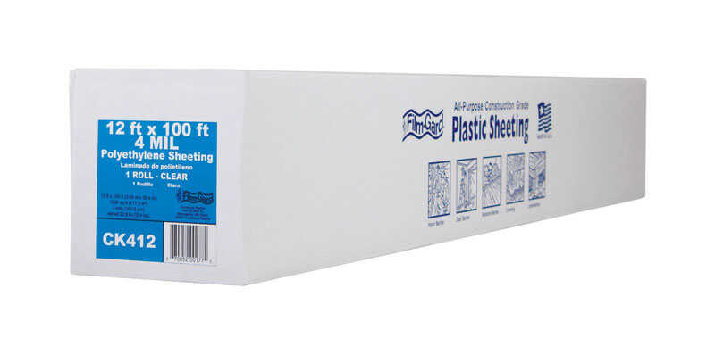 Berry Plastics  Film-Gard  Plastic Sheeting  4 mil  x 12 ft. W x 100 ft. L Polyethylene  Clear