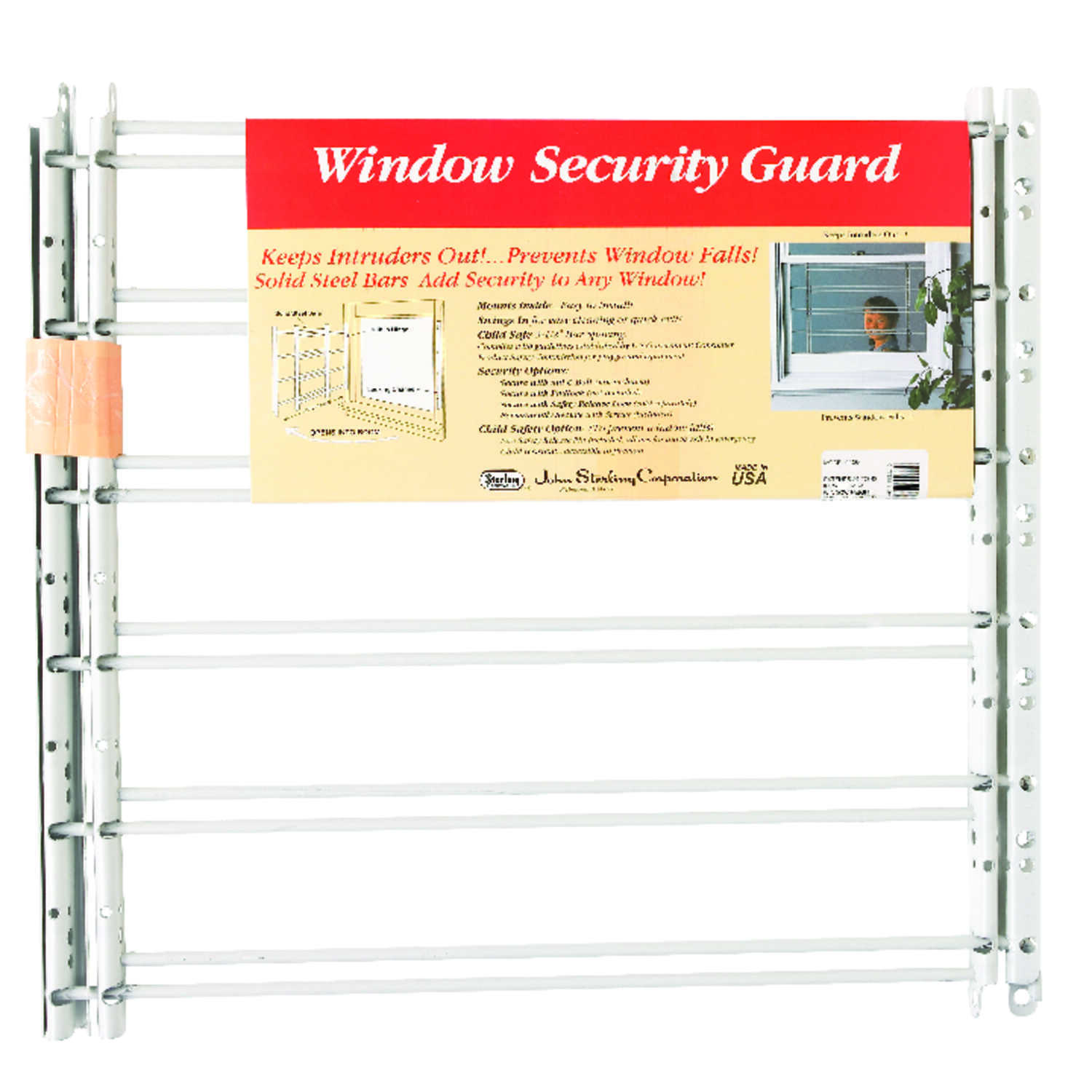John Sterling  White  Steel  Window Security Guards  1 count