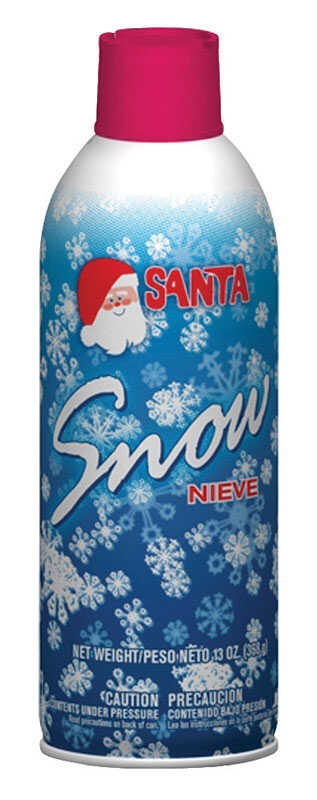 Santa  Christmas  Spray Snow  Aluminum  1 each White