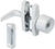 National Hardware  White  Zinc  Universal Knob Latch  1 pk