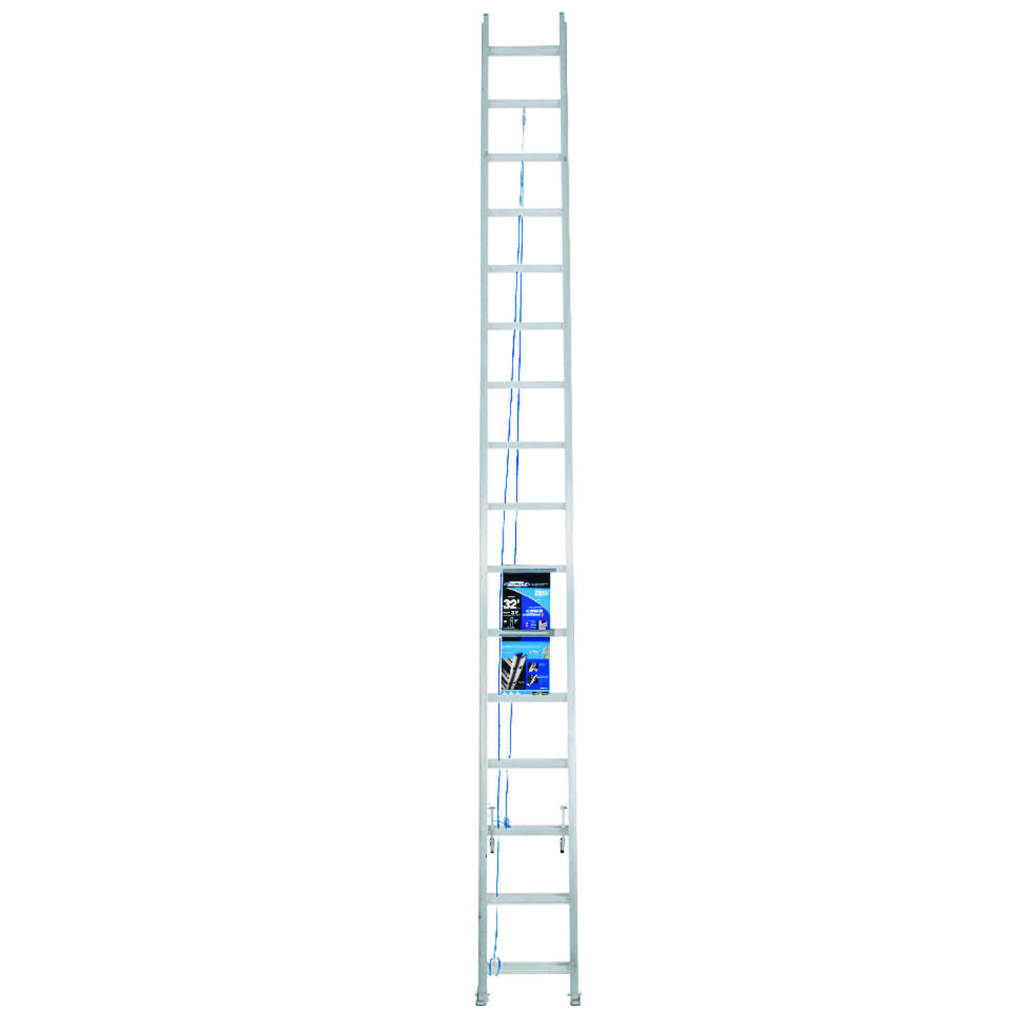 Werner  32 ft. H x 17.33 in. W Extension Ladder  Aluminum  250 lb. Type I