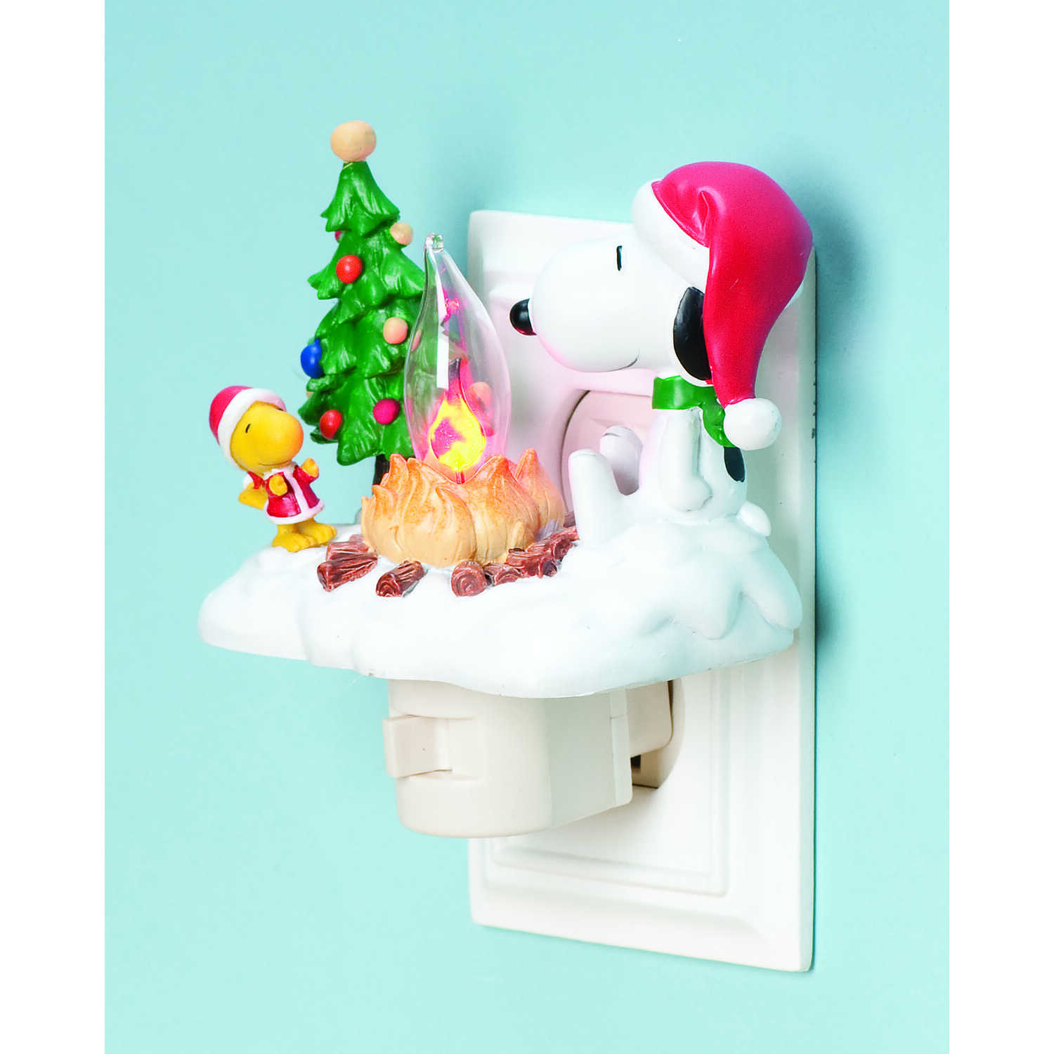 Roman  Snoopy and Woodstock  Multicolored  Resin  1 pc. Night Light