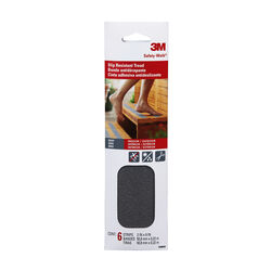 3M Gray Anti-Slip Tape 2 in. W x 9 in. L 6 pk