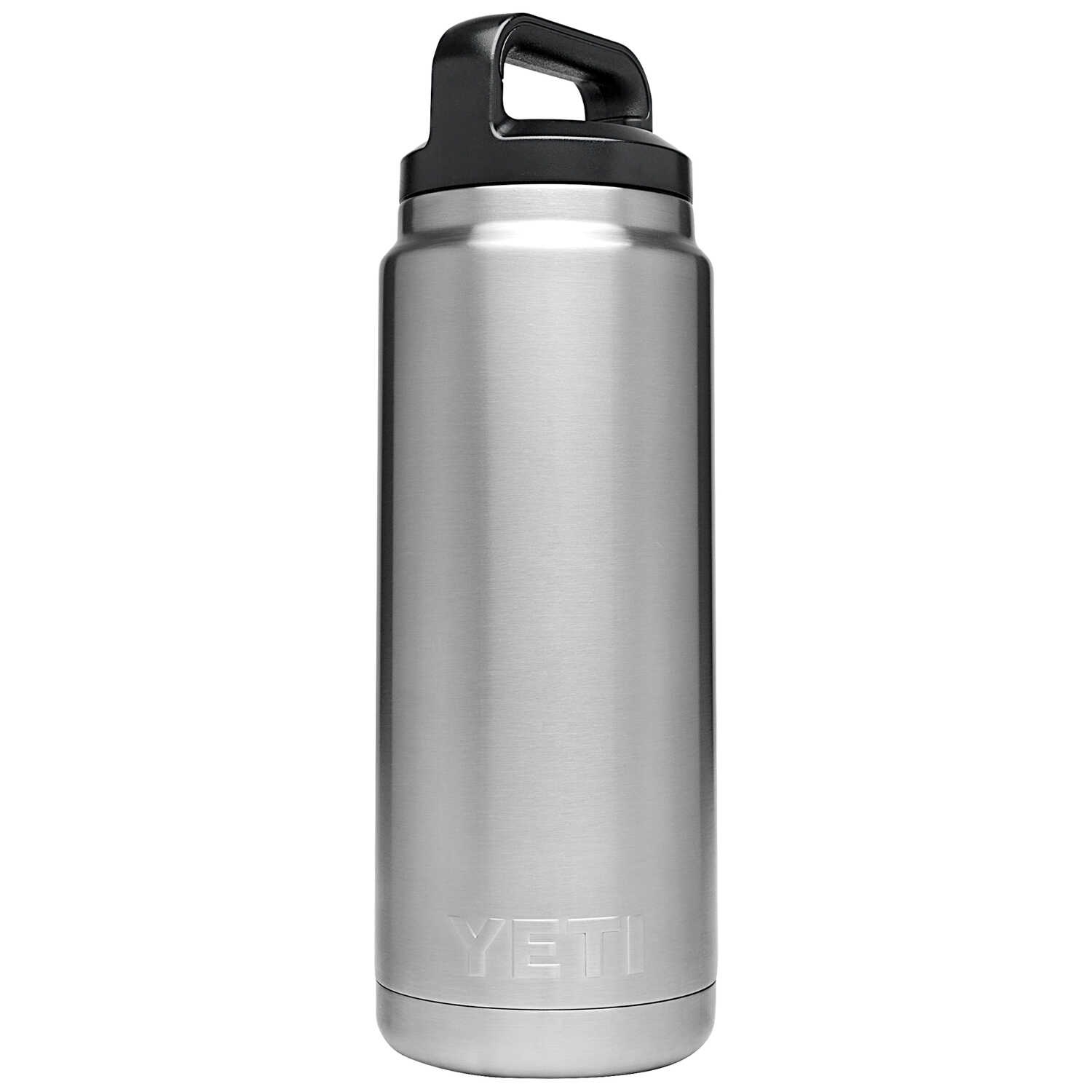 YETI  Rambler  Silver  Stainless Steel  Insulated Bottle  BPA Free 26 oz.