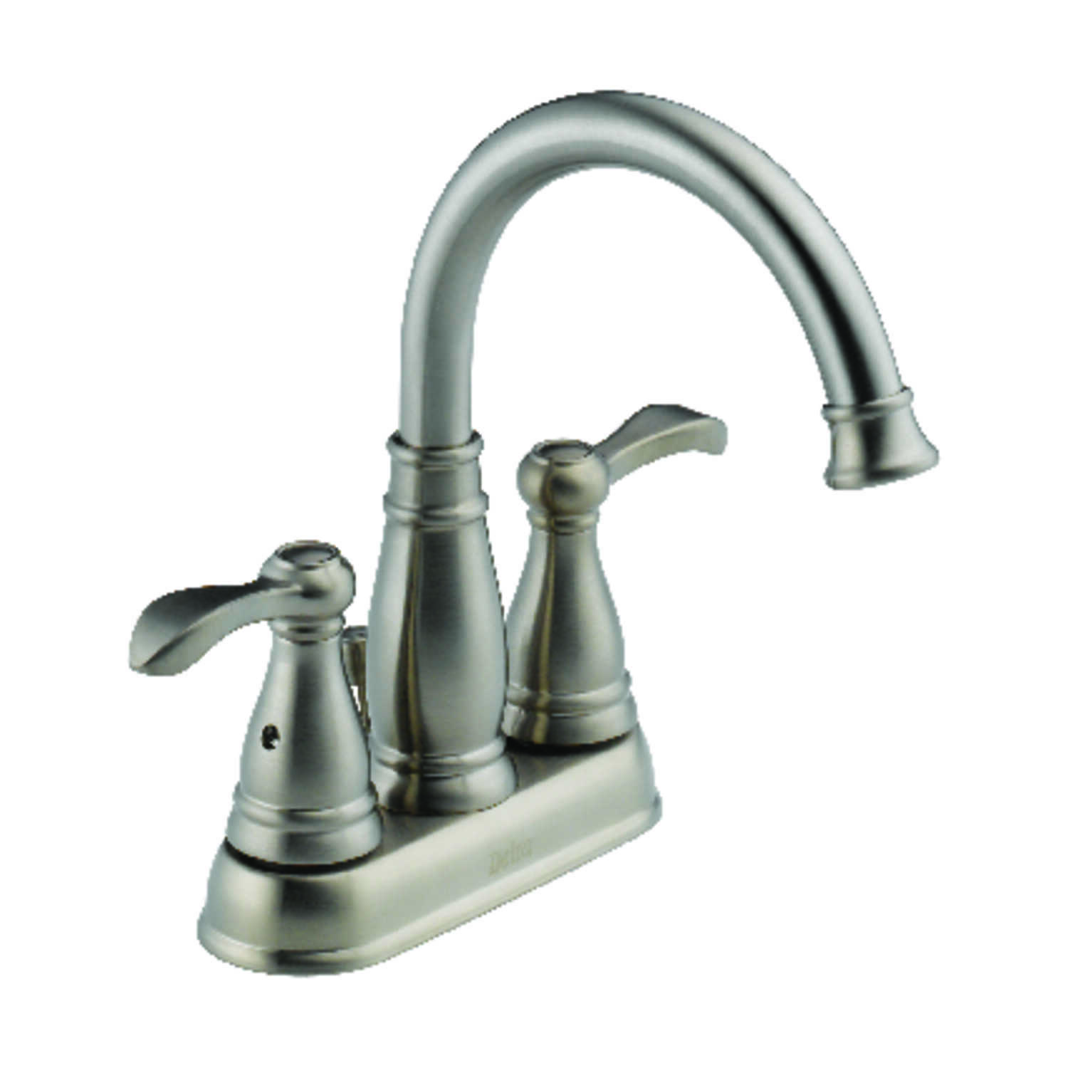 Delta  Porter  Two Handle  Lavatory Faucet  4 in. Brushed Nickel