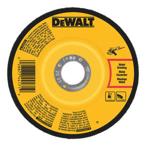 DeWalt  4-1/2 in. Dia. x 1/8 in. thick  x 5/8 in.   Metal Grinding Wheel  1 pc.