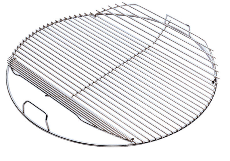 Weber Hinged Plated Steel Grill Cooking Grate 2 in. H x 17.5 in. L x ...