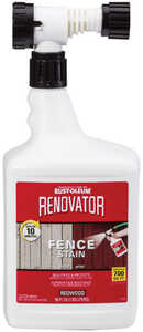 Rust-Oleum  Renovator Fence Stain  Semi-Transparent  Redwood  Fence Stain  56 oz.