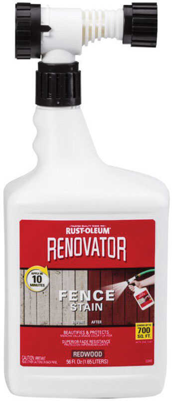 Rust-Oleum  Renovator  Semi-Transparent  Redwood  Fence Stain  56 oz.