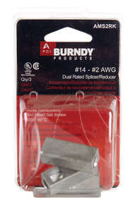 Burndy  Cable Splicer/Reducer  Cable Splicer/Reducer  3 pk