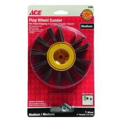 Ace  5 in. Dia. x 1/4 in.   Aluminum Oxide  Flap Wheel  80 Grit 1 pk