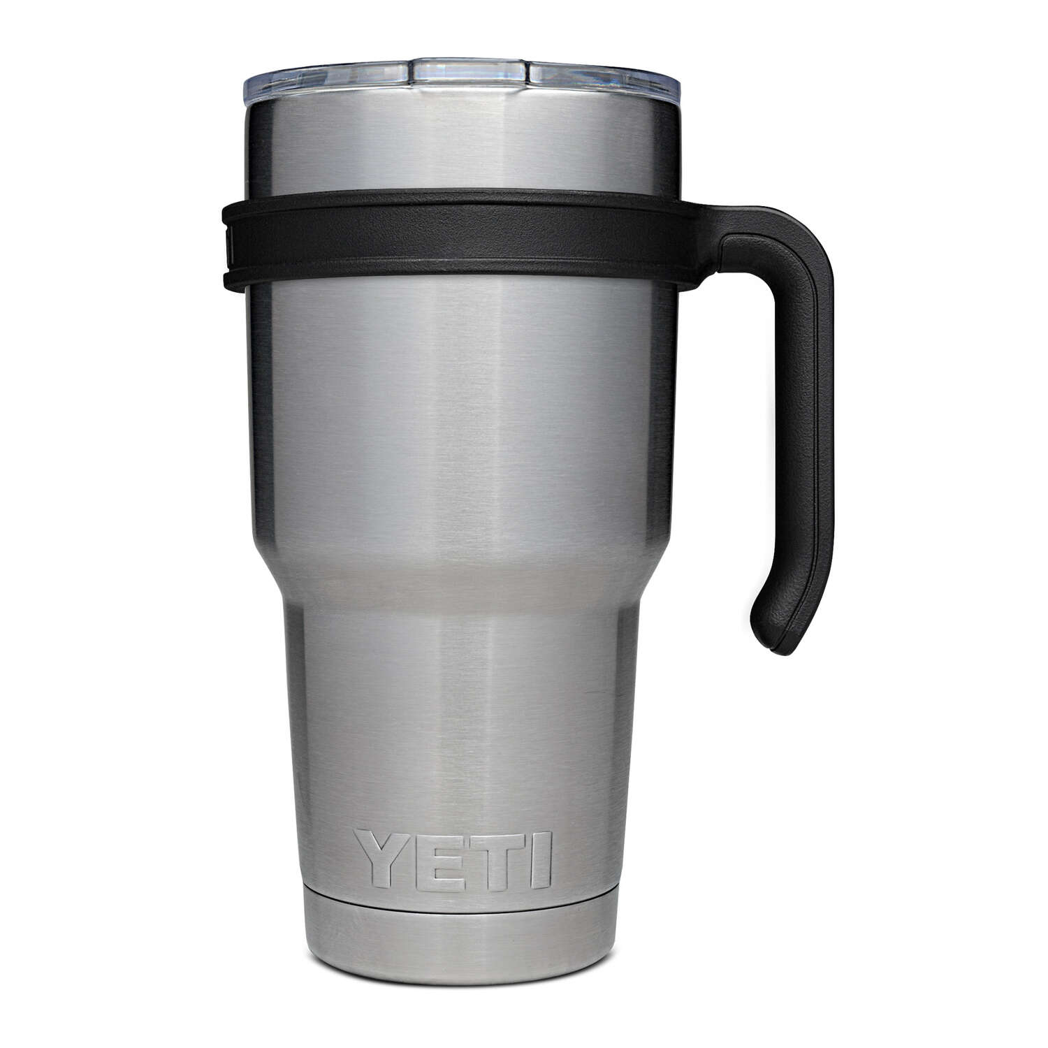 YETI  Rambler  Polypropylene  Tumbler Handle  BPA Free Top Fun  30 oz. Black