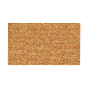 DeCoir  Natural Tan  Tan  Coir  Nonslip Door Mat  16 in. L x 27 in. W