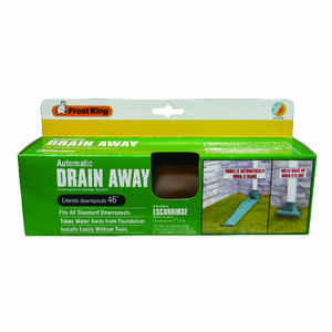 Frost King  Drain Away  8-1/2 in. W x 4 ft. L Brown  Plastic  Downspout Extension